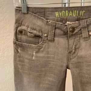 HYDRAULIC Distressed Skinny Jeans Size 7/8 Grey